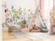 Fototapete bunte Blumenwiese im Kinderzimmer