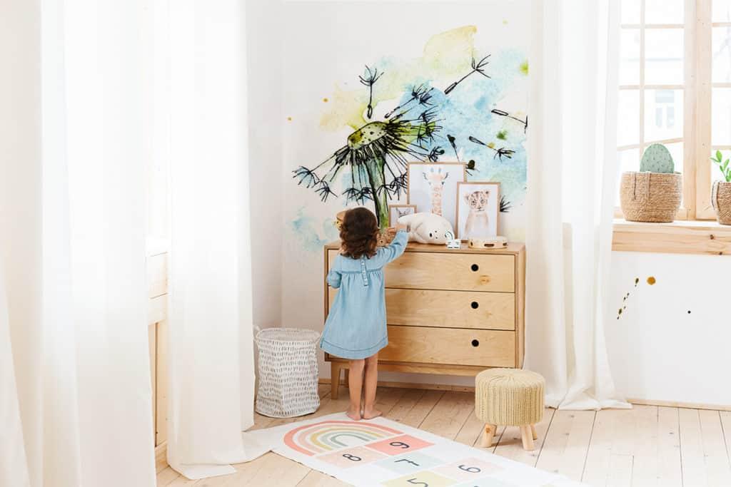 Fototapete Pusteblume im Kinderzimmer